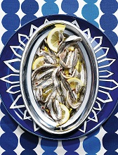 Marinated anchovies with ginger, Liguria, Italy, Europe