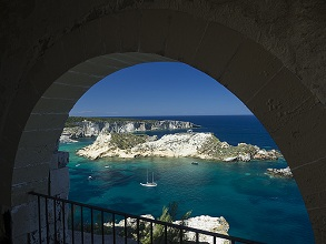 seascape seen from the island of San Domino, Tremiti Islands, Gargano, Puglia., Italy, Europe