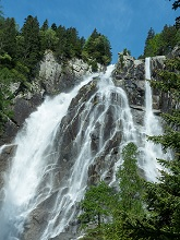 Rondon waterfall  in val di Daone, Valli Giudicarie valley, Trentino, Italy Europe