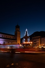 Christmas lights at Duomo square, Trento, Trentino, Italy, Europe