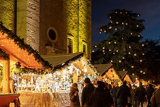 Christmas market at Arco, Trentino, Italy, Europe