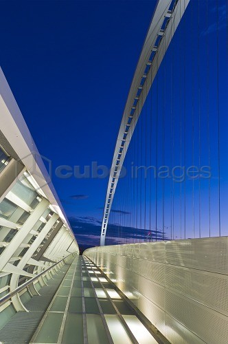 bridge on a1 motorway and on tav by calatrava, Reggio Emilia, Emilia Romagna, Italy