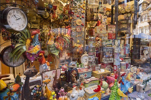 super popular 276c5 962e7 Typical frippery shop, Colmar, Haut-Rhin department, Alsace ...