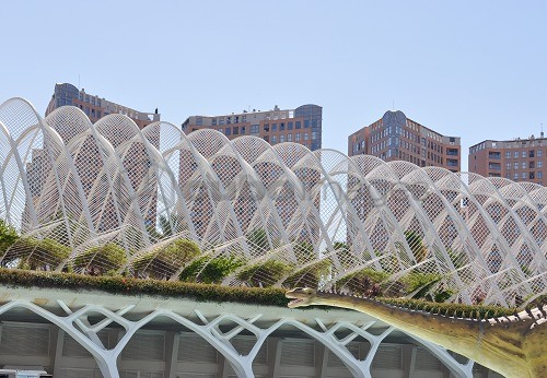 City of Arts and Sciences, Science Museum, Ciudad de las Artes y las Ciencias, Museo de las Ciencias Principe Felipe, Valencia, Spain, Europe