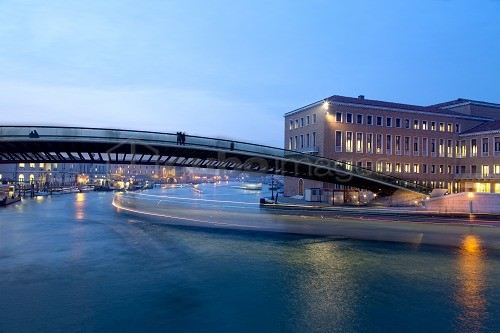 Calatrava bridge in the night, Venice, Veneto, Italy, Europe
