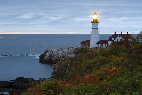 Portland, Maine, USA. The Portland Head Lighthouse in Portland Maine, USA.