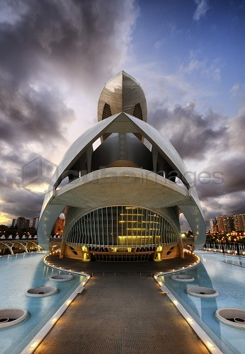 Europe, Spain, Valencia, Palau de les Arts Opera House.