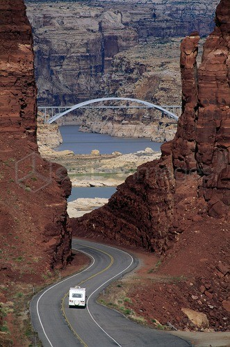 Highway 95, Lake Powell, Glen Canyon, Rec. Area, Utah, USA