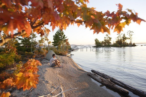 Autumn on Lake Millinocket, Maine, USA