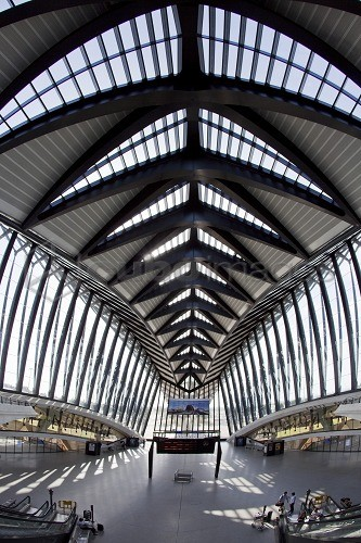 TGV station at Lyon airport by architect Santiago Calatrava, Lyon, Rhone Alps, France