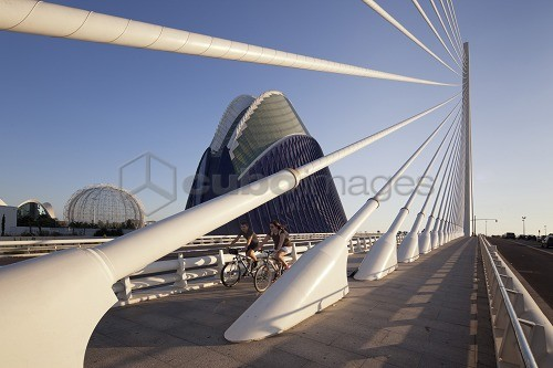 Agora, Puente de l'Assut de l'Or, bridge at the City of Sciences, Valencia, Spain, Europe