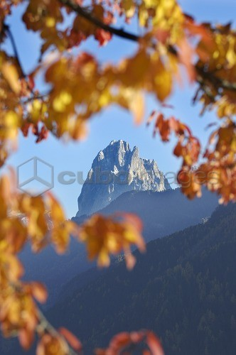 Autumn in the mountains, Lajen, Sellastock massif, Dolomites, South Tyrol, Trentino-Alto Adige, Italy