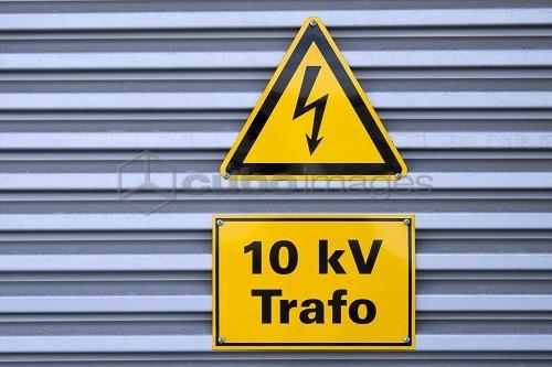 Symbol Trafostation substation, detail, signs,pictogram arrow, 10 kv trafopower station