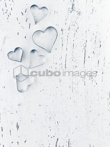 black wooden heart on white background