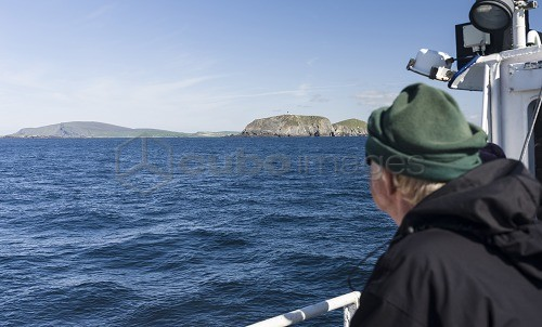 Landscape at Sumburgh Head on the Shetland Islands. View towards ...