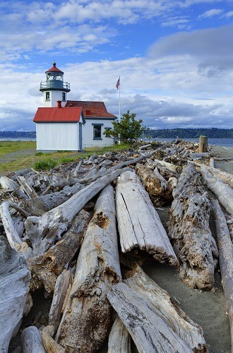Point Wilson Lighthouse, Vashon Island, Tacoma, Washington State, United States of America, North America