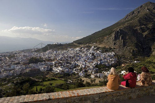 Chefchaouen (Chefchaouene), Rif mountains, Atlas Mountains, Morocco, North Africa, Africa