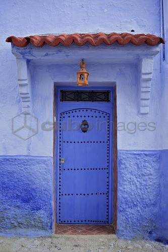 Traditional bluehouse, Chefchaouen (Chefchaouene), Morocco, North Africa, Africa