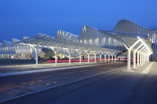Train Station, designed by Santiago Calatrava, Reggio Emilia, Emilia Romagna, Italy, Europe