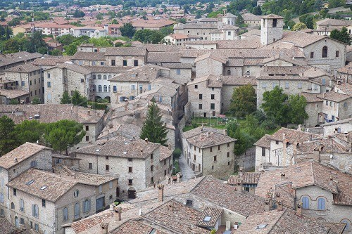 View of Gubbio, Umbria, Italy, Europe