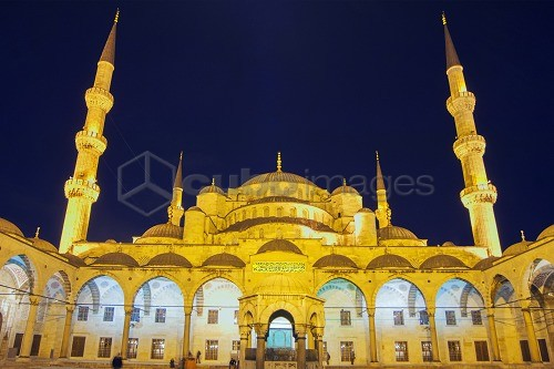 Sultan Ahmed Mosque (Blue Mosque), UNESCO World Heritage Site, Istanbul, Turkey, Europe