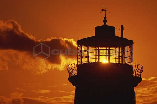 Sun shining through lantern room of Belle Tout, disused lighthouse, Beachy Head, Sussex, England, United Kingdom, Europe