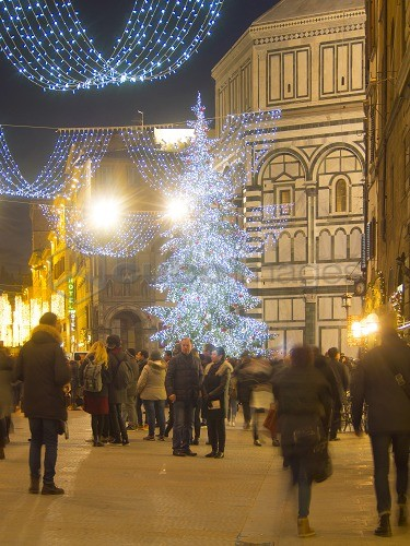 Christmas In Florence Italy.Italy Tuscany Florence At Christmas Time The Christmas