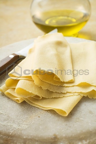 Rolled-out pasta dough