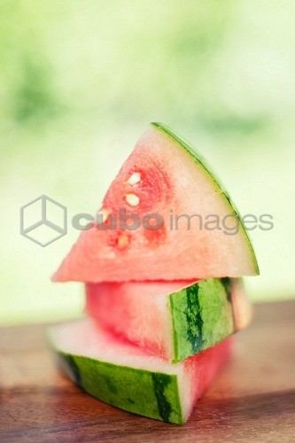 Three Watermelon Wedges, Stacked