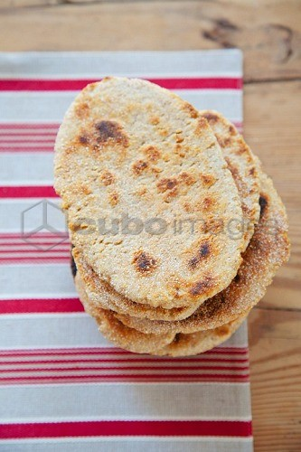Pile of grilled pita breads