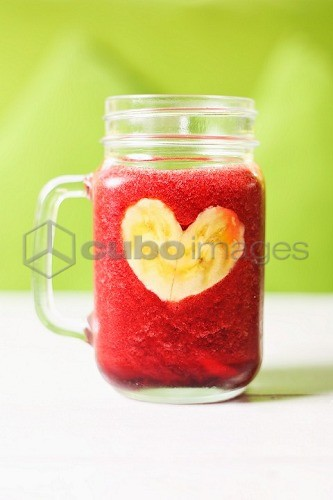 A beetroot and banana smoothie
