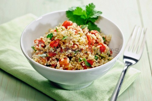 Tablouleh (bulgur salad with tomatoes, mint and parsley, Lebanon)