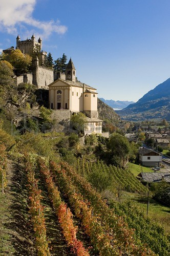 Castle, Saint Pierre, Valle d'Aosta, Italy, Europe